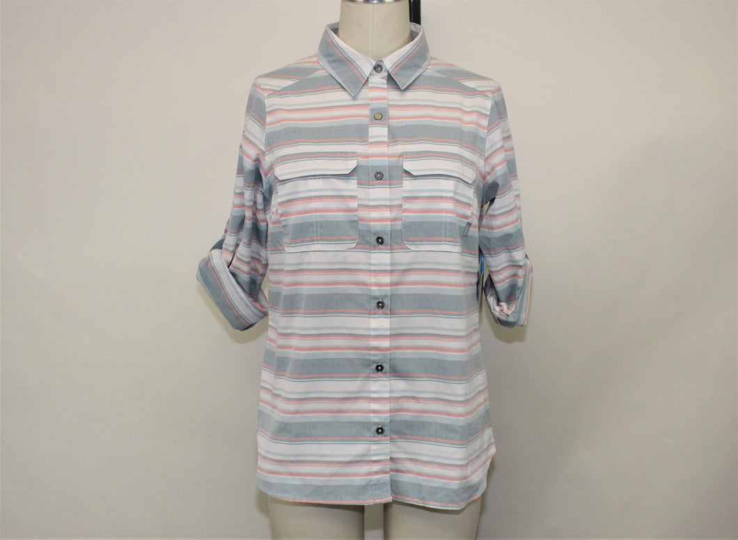 Columbia Multi-Color Striped Shirts - Size: M