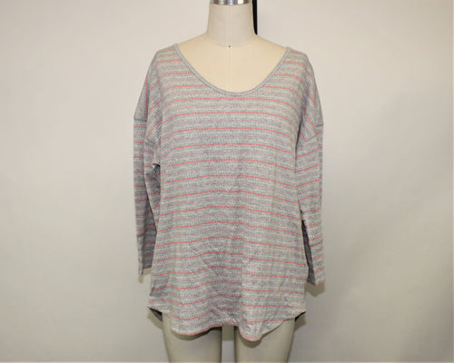 Talbots Gray 3/4 Sleeve Sleepwear Top - Size: XL