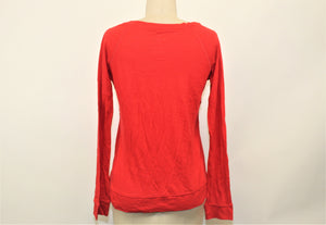 American Eagle Outfitters Red Long Sleeve Top - Size: S
