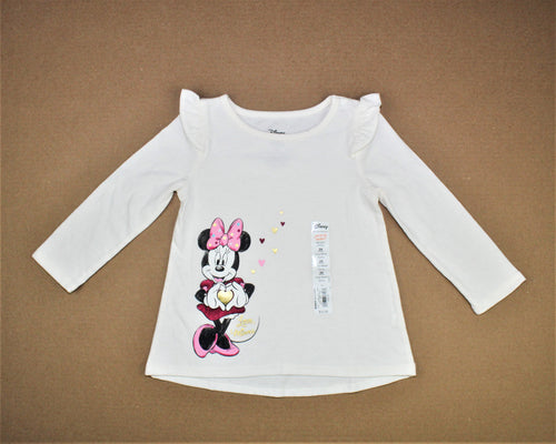 Jumping Beans Disney White Long Sleeve Tunic - Size: 24M