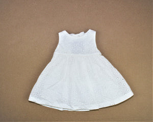 Gymboree White Embroidered Dress - Size: 3-6M