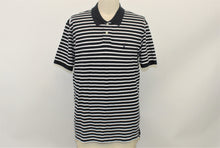 Load image into Gallery viewer, Nautica Navy Blue and White Striped Polo Shirt - Size: L
