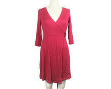 Load image into Gallery viewer, Banana Republic Burgundy 3/4 Sleeve Midi Dress - Size: S