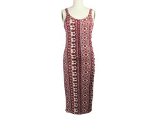 Load image into Gallery viewer, Billa Bong Red Print Sleeveless Maxi Dress - Size: L