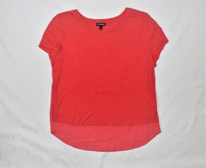 Express Coral Short Sleeve Top - Size: M