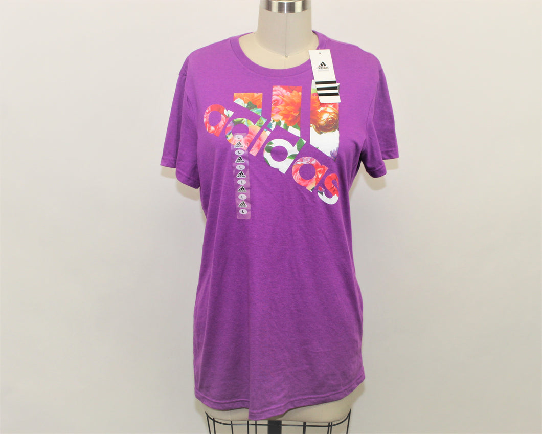 Adidas Purple Go-To Tee - Size: L