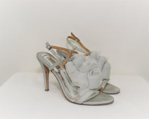 Badgley Mischka Blue Open Toe Heels - Size: 7.5M