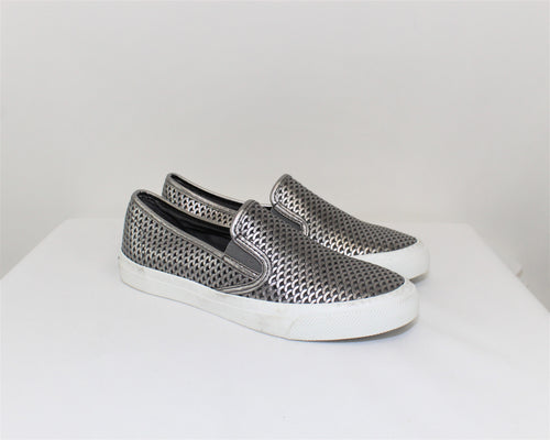 Sperry Top-Sider Gray Slip-On Sneakers - Size: 7M