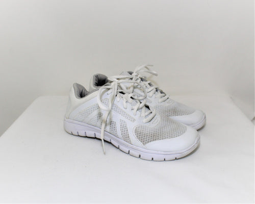 Champion White Lace-Up Sneakers - Size: 5