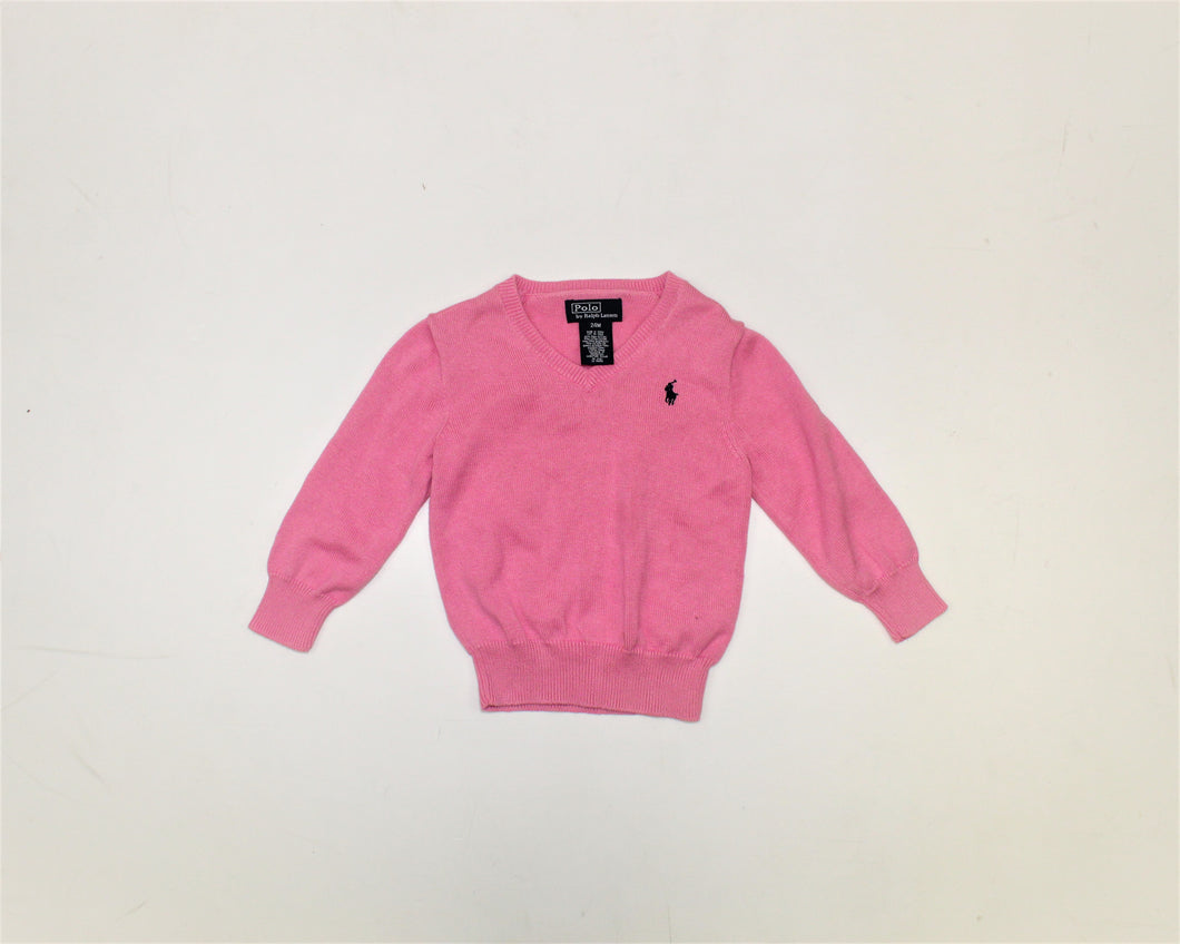 Polo by Ralph Lauren Pink Sweater - Size: 24M