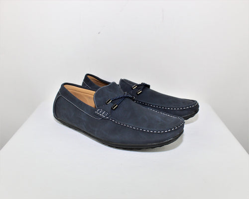 BriX Navy Blue Loafers - Size: 11