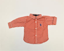 Load image into Gallery viewer, U.S. Polo Assn. Orange Long Sleeve Shirt - Size: 6-9M
