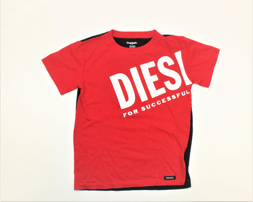 Diesel Red and Black T-Shirt - Size: 7