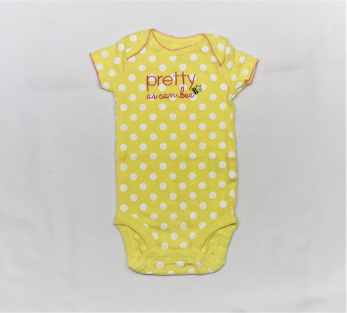 Carter's Yellow Polka-Dots Bodysuit - Size: 3M