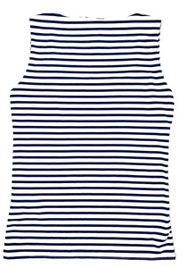Zara Blue and White Striped Top - Size: L