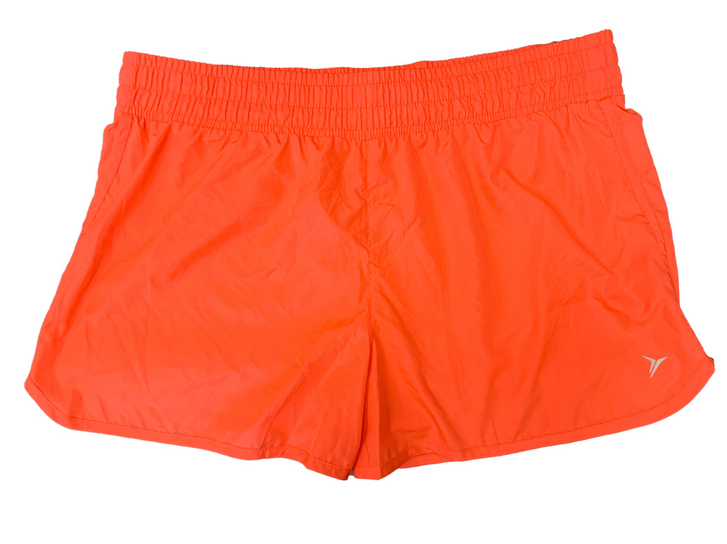 Old Navy Active Neon Orange Running Shorts - Size: L