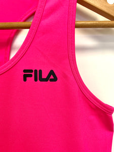 Fila Hot Pink Racerback Sports Top - Size: XL (16)