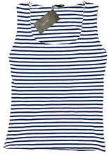 Load image into Gallery viewer, Zara Blue and White Striped Top - Size: L