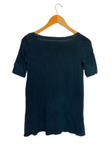 American Eagle Outfitters Dark Green/Blue Henley Top Washed- Size: XS