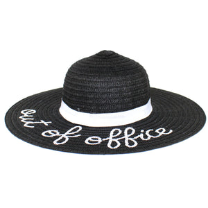 Ellen Tracy Black Floppy Hat