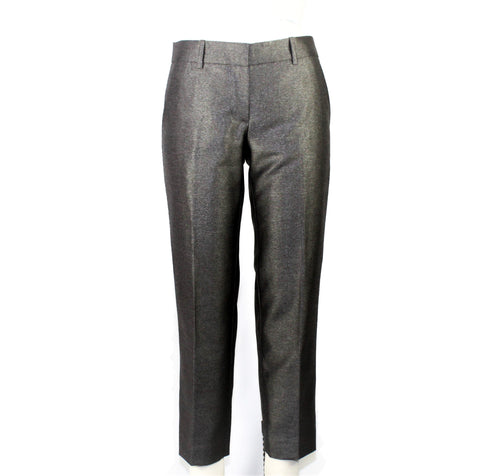 J. Crew Gray Metallic Pants - Size: 0