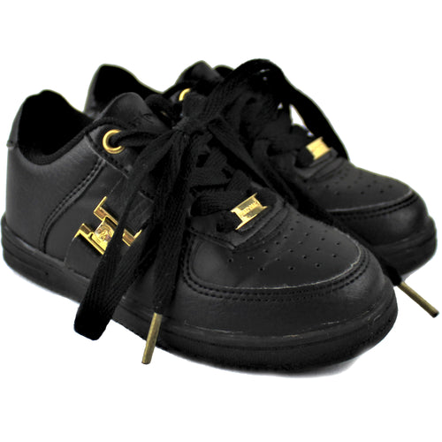 Phat Farm Black Lace-Up Sneakers - Size: 9
