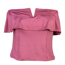 Load image into Gallery viewer, Unbranded Purple Open Shoulder Top - Size: M