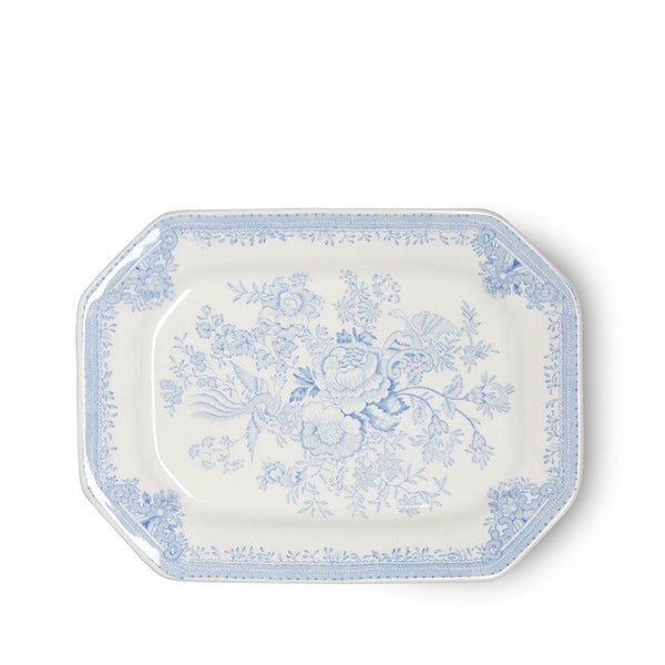 Serveringsfat fat Burleigh blue asiatic pheasants rectangular platter