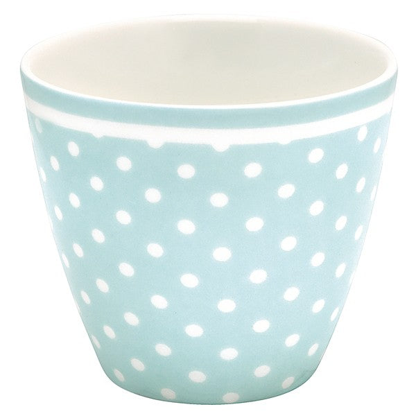 Spot Pale Blue, Lattekopp - Greengate
