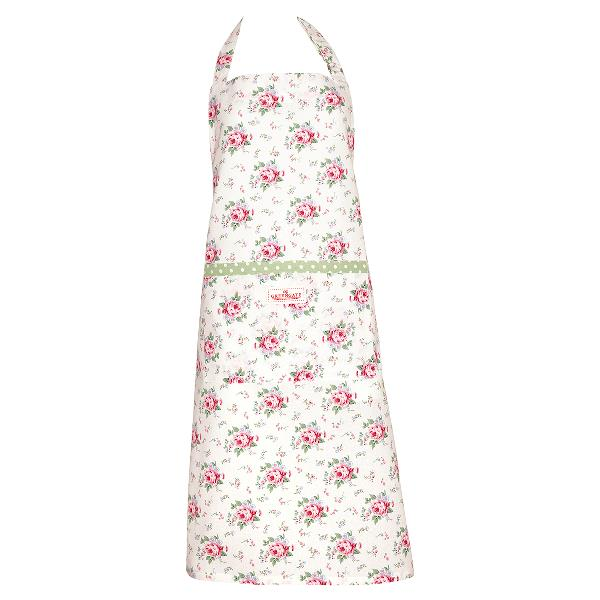greengate forkle blomster apron marley petit white