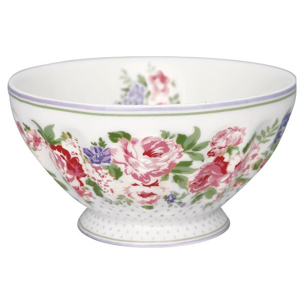 greengate french bowl rose white nettbutikk