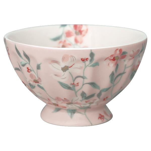 greengate french bowl jolie pale pink
