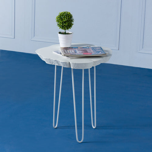 Arbor<br><i> <small>Side Table in White</i></small>