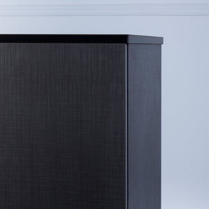 Space<br><i> <small>3 Door Storage Cabinet in Black</i></small>