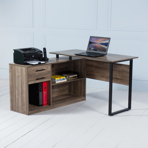Elevate<br><i> <small>Manager Desk in Walnut</i></small>