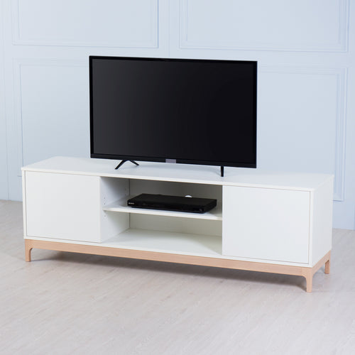 Flix<br><i> <small>Large TV Console in White</i></small>