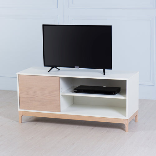 Flix<br><i> <small>Small TV Console in White</i></small>
