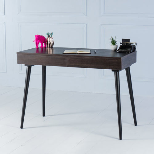 Kross<br><i> <small>Office Desk in Dark Brown</i></small>