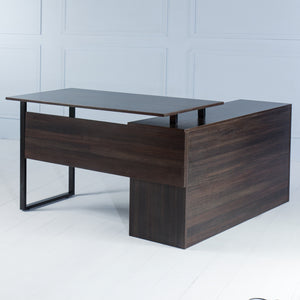 Elevate<br><i> <small>Manager Desk in Dark Brown</i></small>