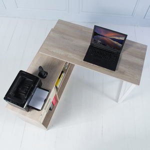 Elevate<br><i> <small>Manager Desk in Brushed Oak</i></small>