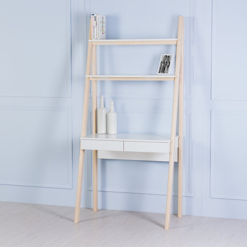 Nook<br><i> <small>Ladder Desk in White</i></small>