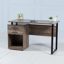 Load image into Gallery viewer, Review<br><i> <small>Office Desk with Drawers in Walnut</i></small>