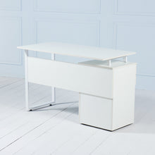 Load image into Gallery viewer, Review<br><i> <small>Office Desk with Drawers in White</i></small>
