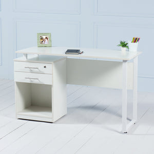 Review<br><i> <small>Office Desk with Drawers in White</i></small>