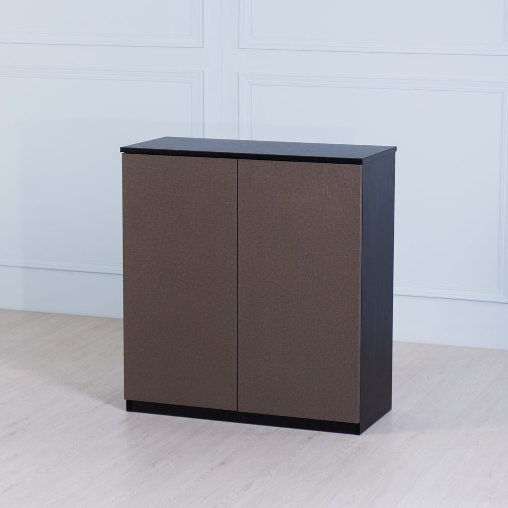 Space<br><i> <small>2 Door Storage Cabinet in Black</i></small>