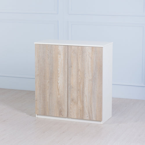 Space<br><i> <small>2 Door Storage Cabinet in White</i></small>