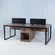 Load image into Gallery viewer, Team<br><i> <small>4 Person Workstation in Walnut</i></small>