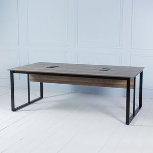 Team<br><i> <small>4 Person Workstation in Walnut</i></small>