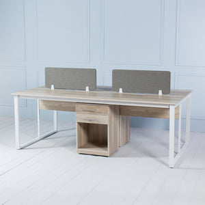 Team<br><i> <small>4 Person Workstation in Brushed Oak</i></small>