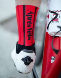 AV Race Red Cycling Socks